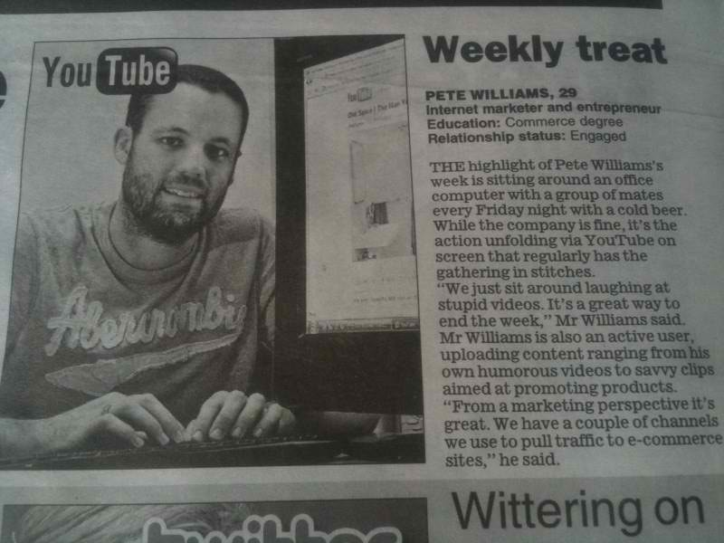 Pete Featured in Herald Sun