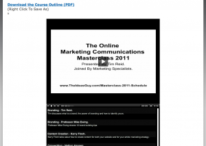 The Online Marketing Communications Masterclass.